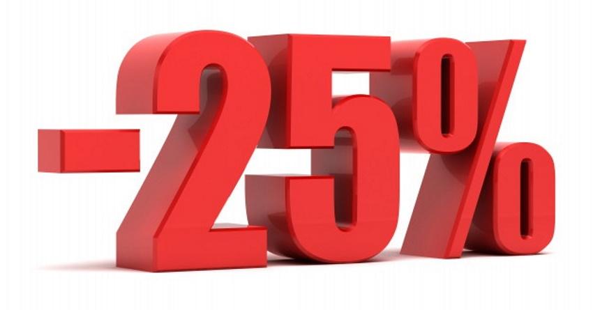 descuento del 25 %