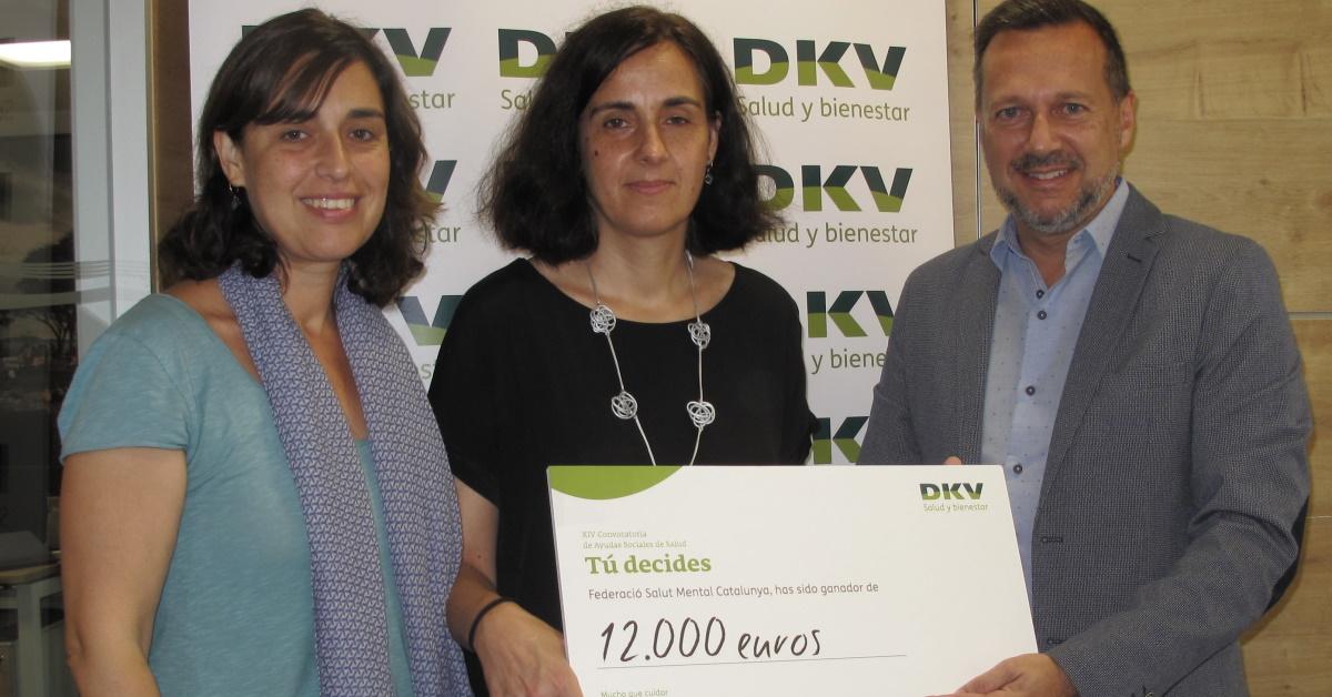 DKV dona 12.000€ a laFederació Salut Mental Catalunya