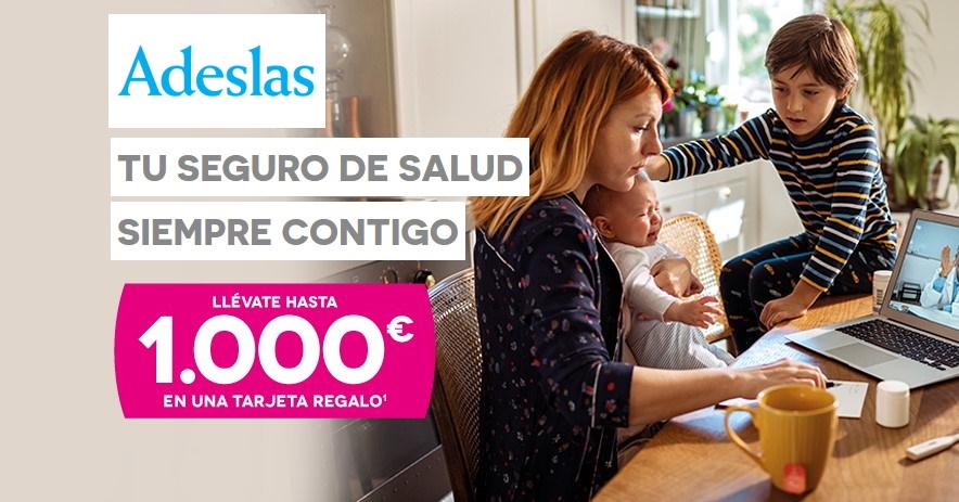 Adeslas te regala 1000€ al contratar tu seguro de salud